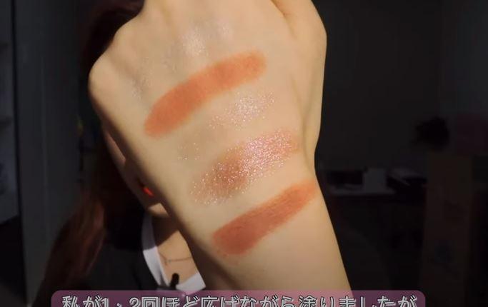 韓国コスメの新色アイシャドウの発色18
